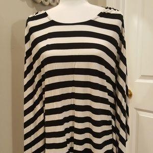 Black & White Michael Kors Top - Size XL